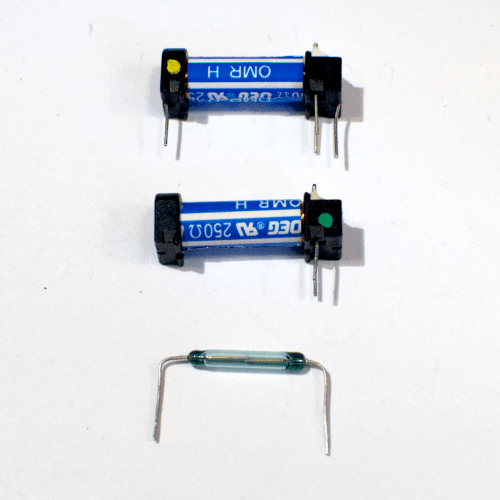 small resolution of two relays one whole and the other with the switch removed the blue and