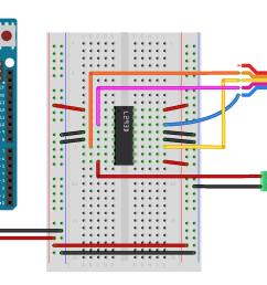 breadboard view of an h bridge connected to an arduino for driving a stepper motor [ 2223 x 1041 Pixel ]