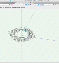 modeling the neopixel ring mount in vectorworks  [ 2560 x 1550 Pixel ]