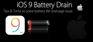 iOS 9 Battery Drain Featured image