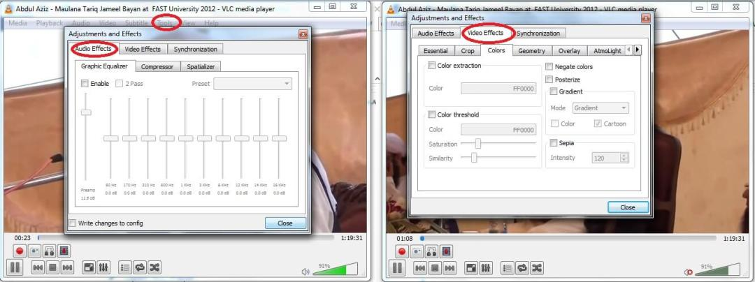 VLC Player Tips Effects for Audio & Video in VLC Player
