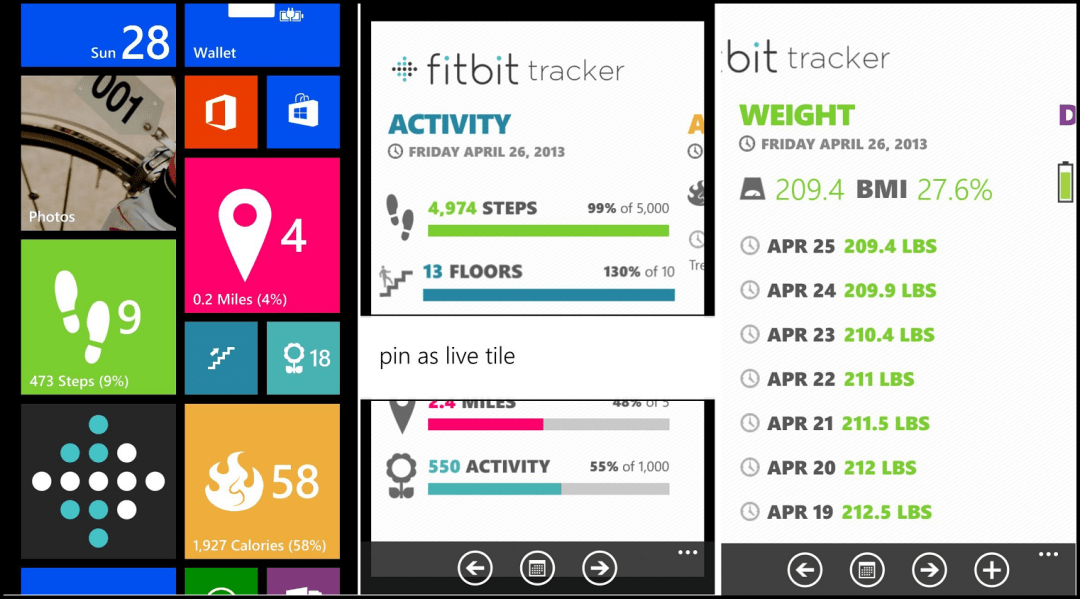 Fitbit app for windows 10 - Windows phone notification