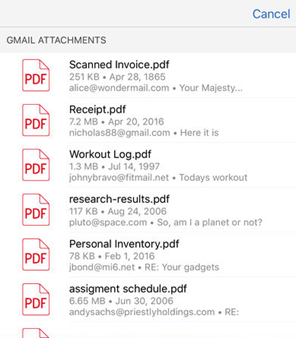 PDF to Word Converter App - Converting Gmail attachments on iOS