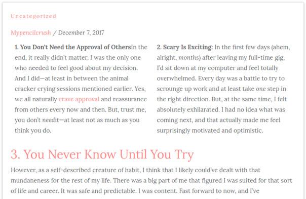 WordPress Column creating plugin using