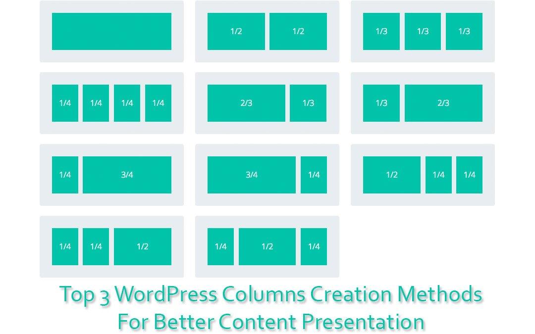 Top 3 WordPress Columns Creation Methods for Better Content Presentation