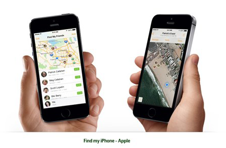 gps tracking device Apple's Free Find My Friends App