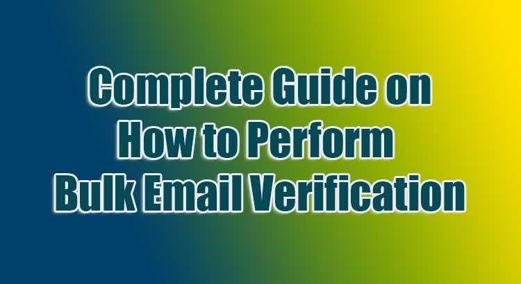 Complete Guide on How to Perform Bulk Email Verification