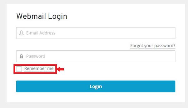 webmail login - remember me