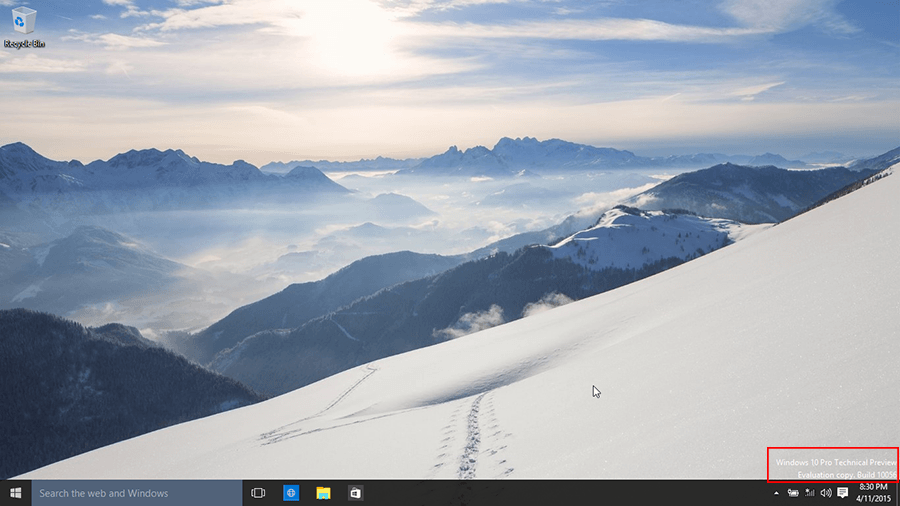 Desktop Windows 10 build 10056