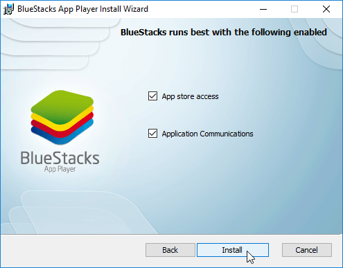 Instal BlueStacks