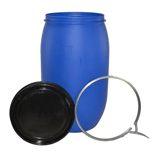220 litre open top plastic drum