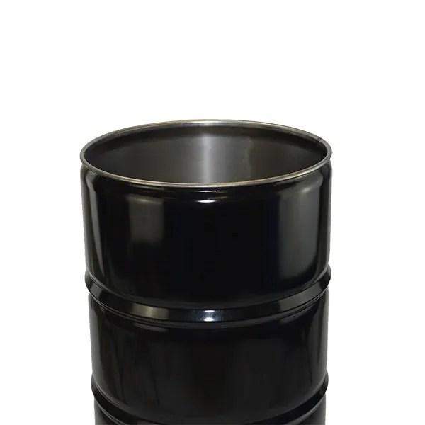 210 litre Tight Head steel Drum black