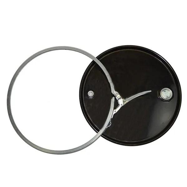 210 litre Tight Head steel Drum black above