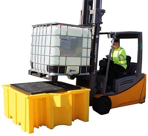 IBC Spill Pallet with grid BB3G