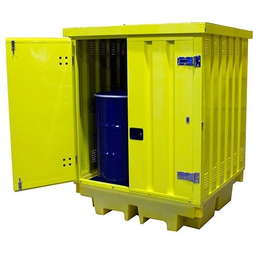Poly Drum Spill Pallet with Steel Cover