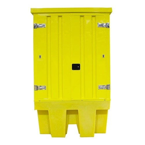 Poly IBC Spill Pallet with Steel Cover