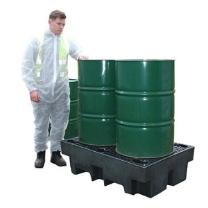 Recycled-Polyethylene-Double-Drum-Spill-Pallet