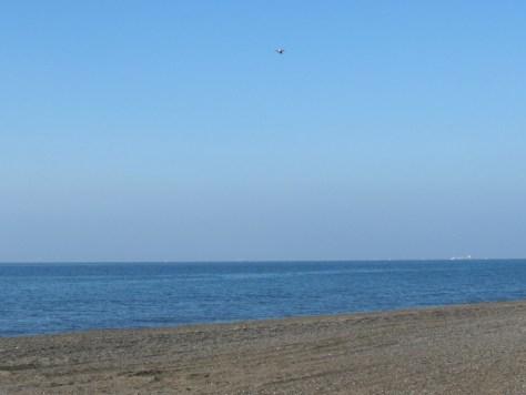 海上を飛行