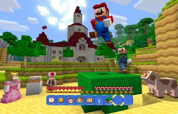 Mario kommer til Minecraft