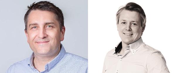 Olav Tvedt, Innofactor (t.v) og Ståle Hansen, Cloudway (t.h)