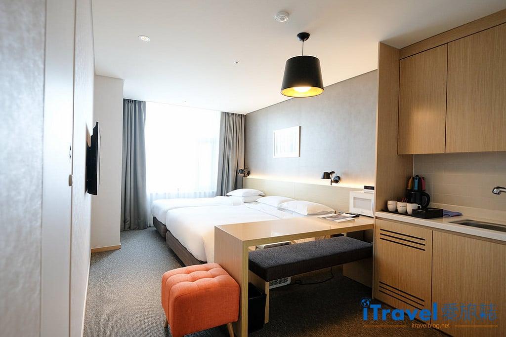 《首爾飯店推薦》東大門阿里郎希爾酒店:三人房公寓式酒店