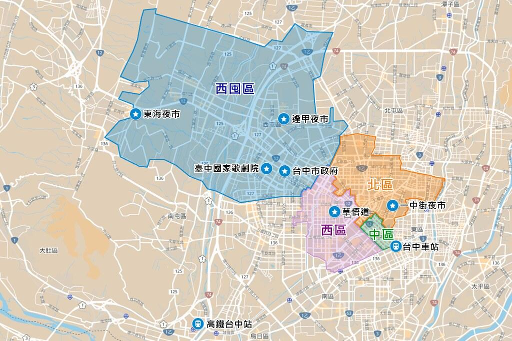 Taichung City Map