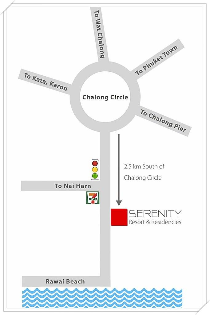 Serenity Resort & Residences Phuket Map