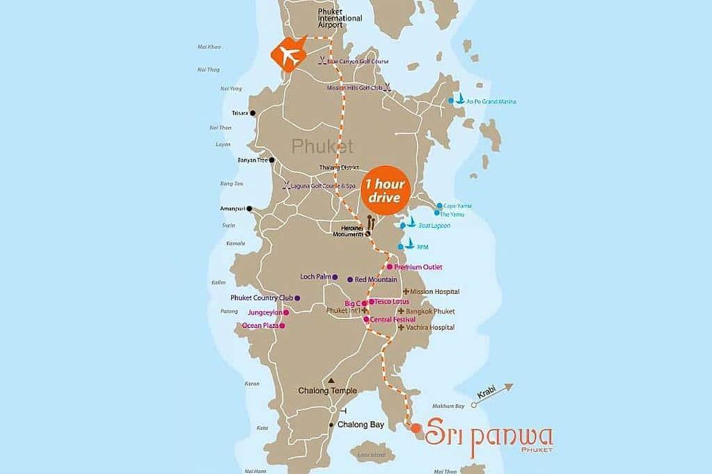 Sri Panwa Map
