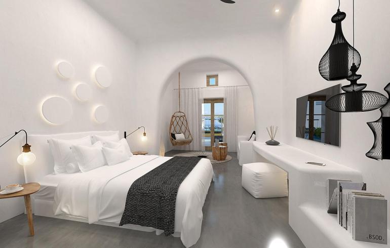 OMMA Santorini: Πεντάστερη διαμονή με θέα στο Ημεροβιγλι - itravelling.gr