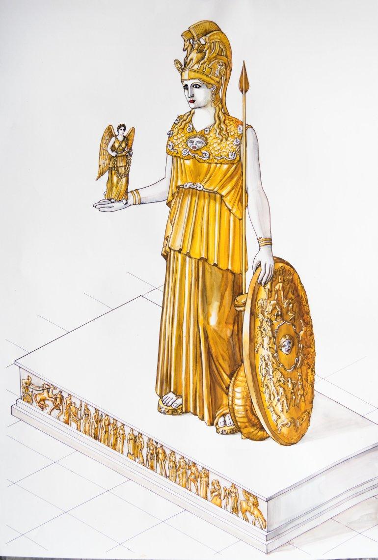 Το χαμένο χρυσελεφάντινο άγαλμα της Αθηνάς στο Μουσείο Ακρόπολης