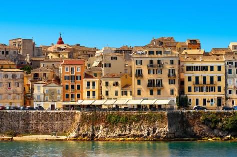 The UNESCO World Hertitage Corfu Old Town , Greek Ionian Islands