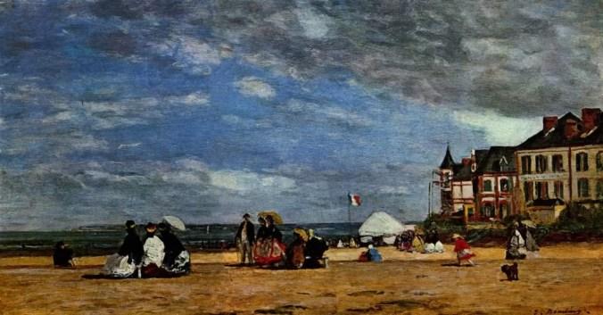 Trouville -  Eugene Boudin en plein air Painting