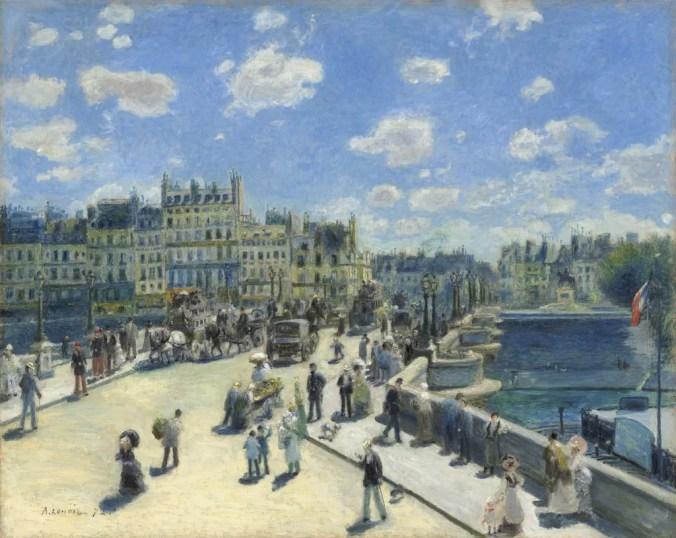 Auguste Renoir paintings -Pont Neuf, Paris