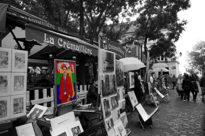 The artists in Montmartre in Tetre square