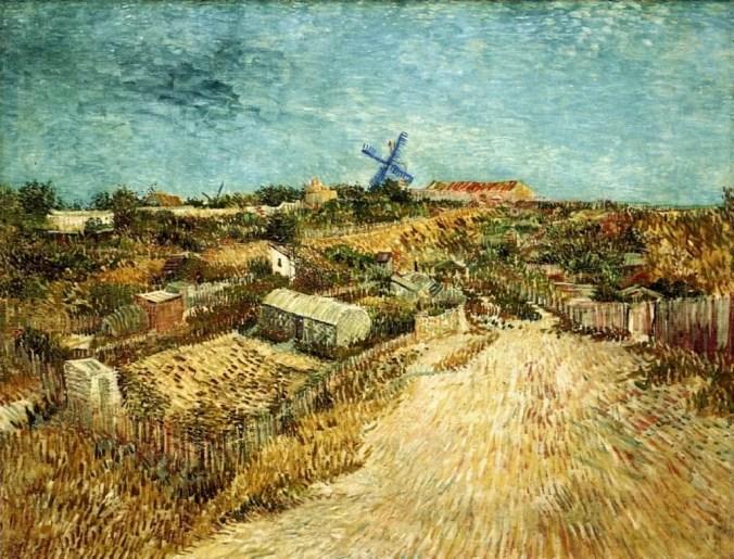 Vincent Van Gogh landscape of Montmartre