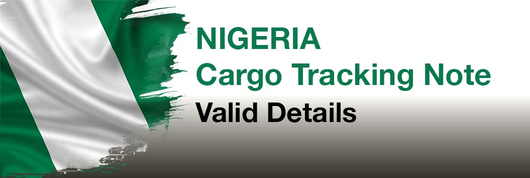 Cargo Tracking Note for Nigeria