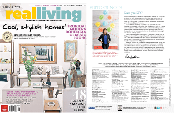 I Try DIY | I Try DIY writes for Real Living October 2013