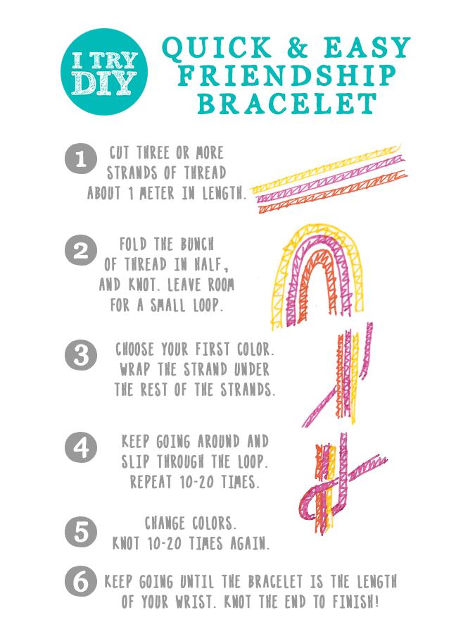 I Try DIY | Easy Peasy Friendship Bracelets