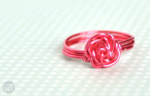 I Try DIY | DIY Rose-Shaped Wire Rings