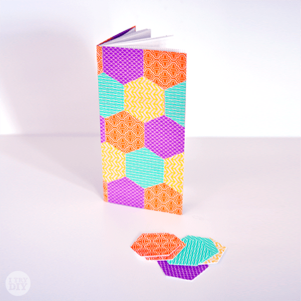 I Try DIY | Honeycomb Pattern Notebooks