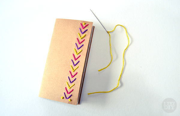 I Try DIY | Decorate your Notebook with Paper Stitching