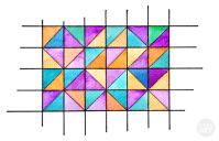 Geometric Watercolor Wall Art | I Try DIY
