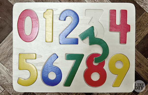 I Try DIY | Quick Cheat Wooden Table Numbers