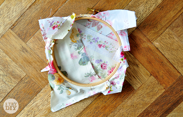 I Try DIY | Wooden Embroidery Hoop and Fabric Wall Hanging