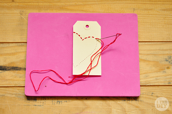 I Try DIY | It's A Wrap: Stitchin' Up Some Heart Gift Tags