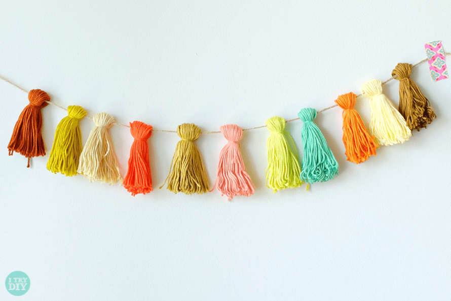I Try DIY | Fold, Tie and Snip Thread Garland