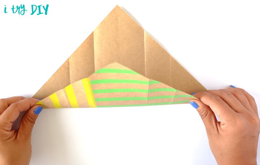 I Try DIY   Mini Origami Shopping Bag