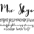 Fonts by Mikko Sumulong - Mix Skye