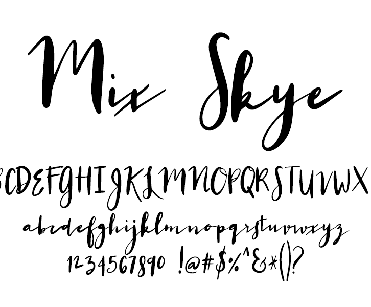 Fonts by Mikko Sumulong - Mix Skye