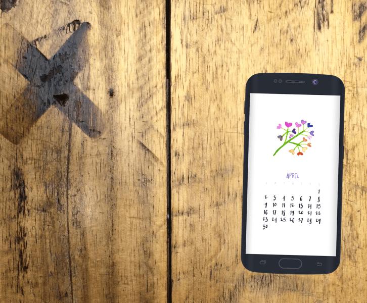 April 2017 Smartphone Wallpaper Calendar